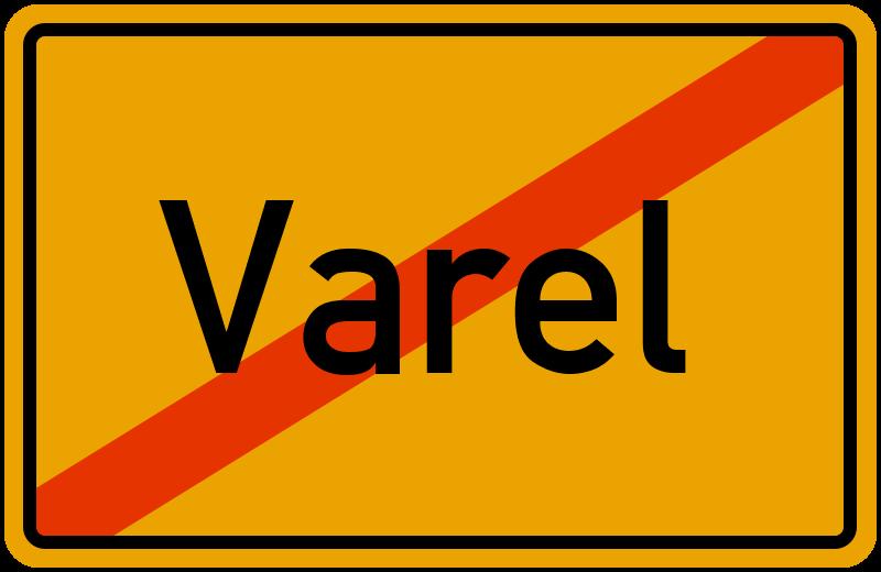 Ortsschild Varel
