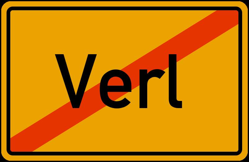 Ortsschild Verl