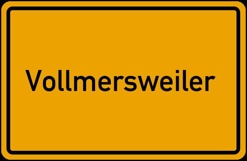 Ortsschild Vollmersweiler