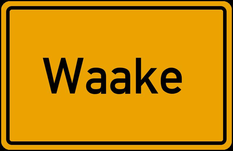 Ortsschild Waake