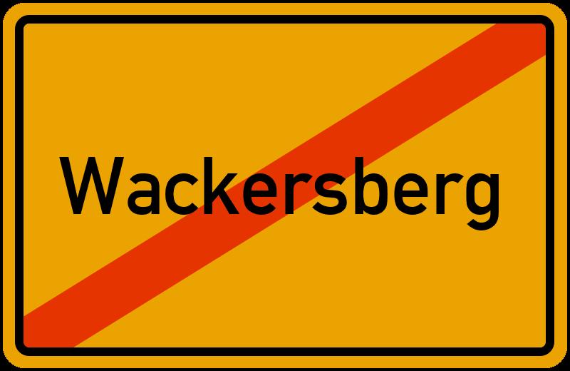 Ortsschild Wackersberg
