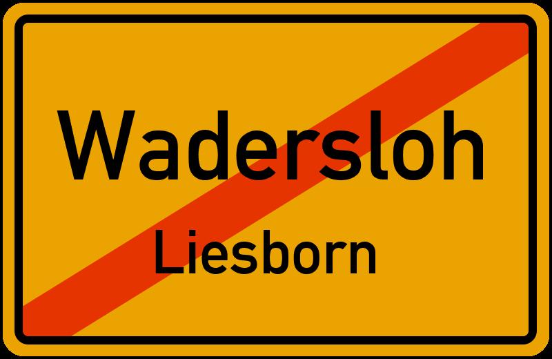 Ortsschild Wadersloh