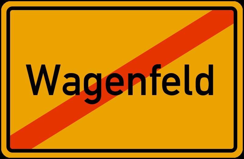 Ortsschild Wagenfeld