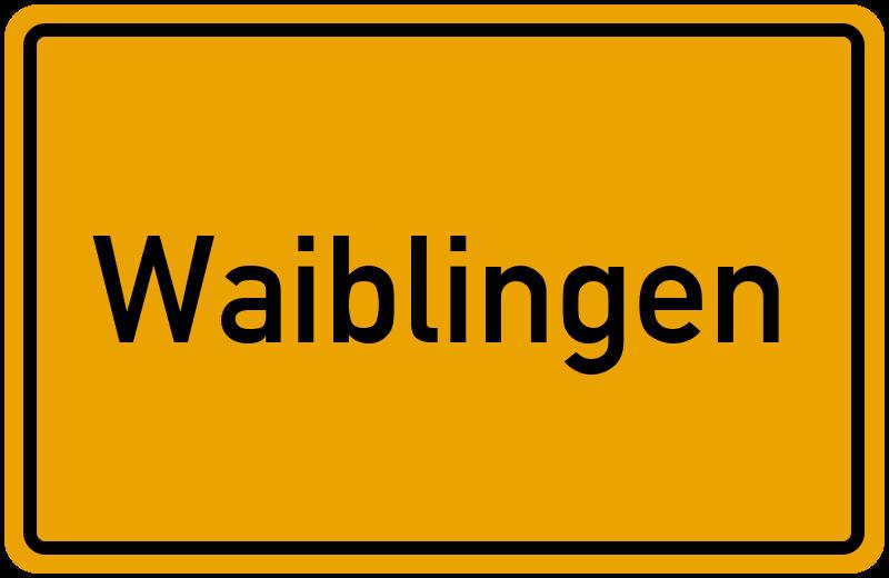 Ortsschild Waiblingen