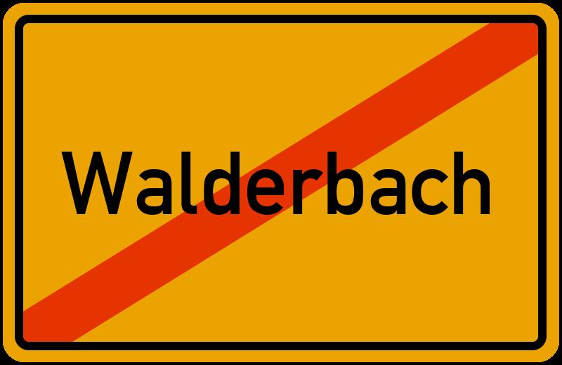 Ortsschild Walderbach