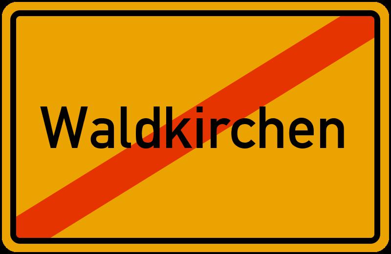 Ortsschild Waldkirchen