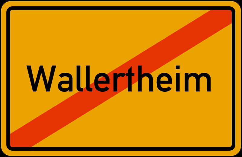 Ortsschild Wallertheim