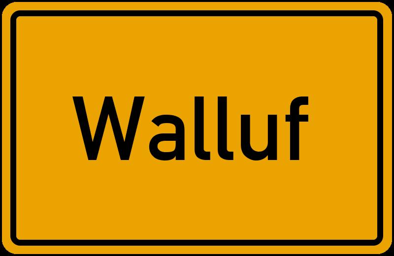 Ortsschild Walluf