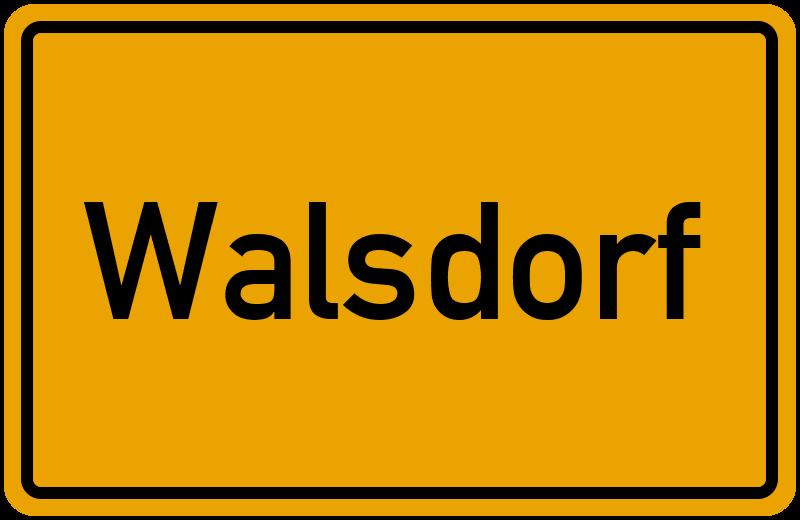 Ortsschild Walsdorf