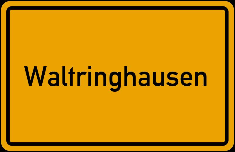 Ortsschild Waltringhausen