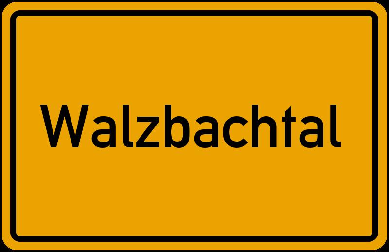Ortsschild Walzbachtal