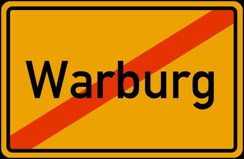 Ortsschild Warburg