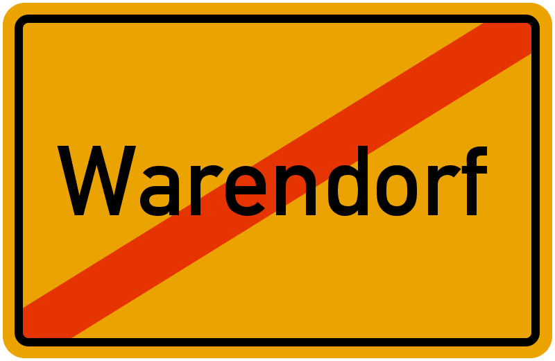 Ortsschild Warendorf
