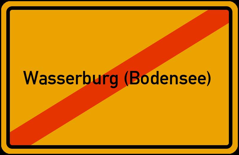 Ortsschild Wasserburg (Bodensee)
