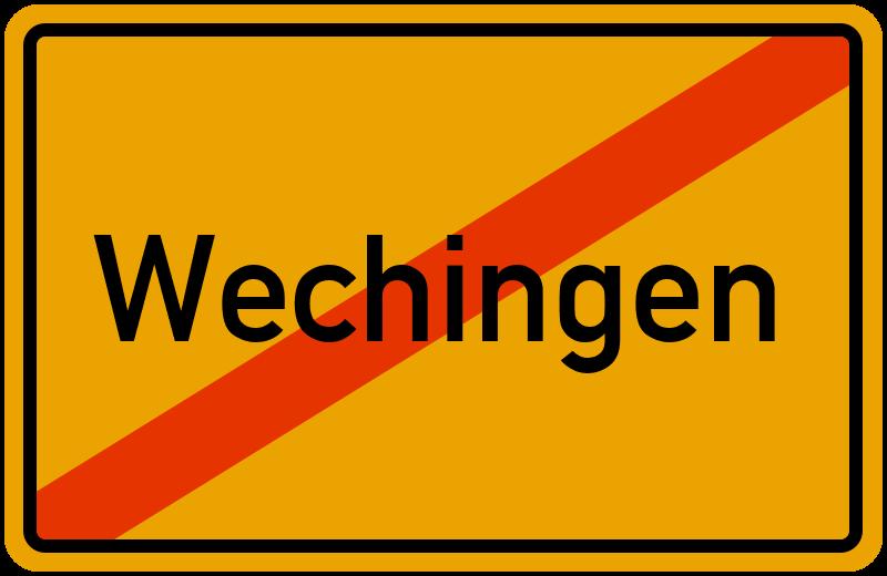 Ortsschild Wechingen