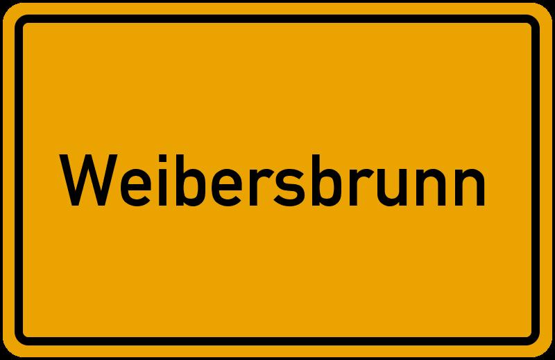 Ortsschild Weibersbrunn