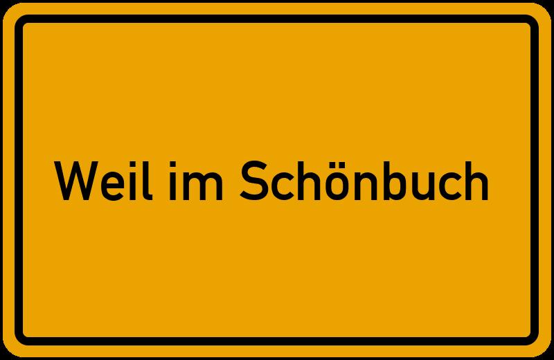 Ortsschild Weil im Schönbuch kostenlos: Download & Drucken