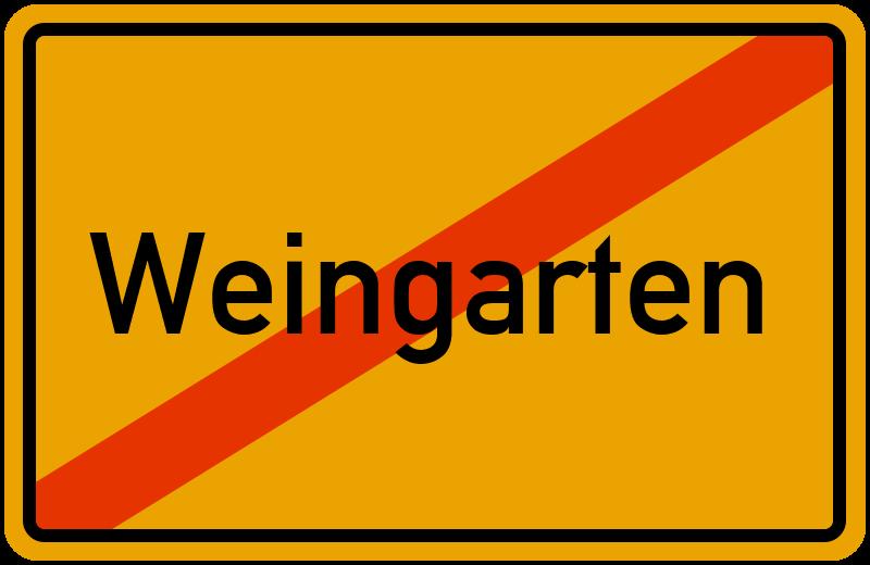Ortsschild Weingarten
