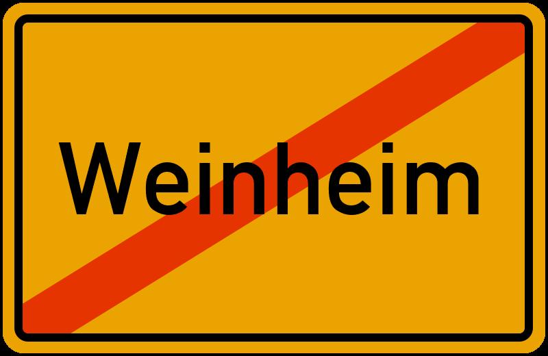 Ortsschild Weinheim
