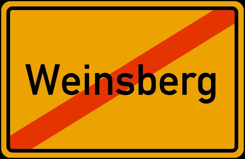 Ortsschild Weinsberg