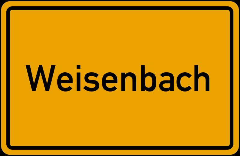 Ortsschild Weisenbach