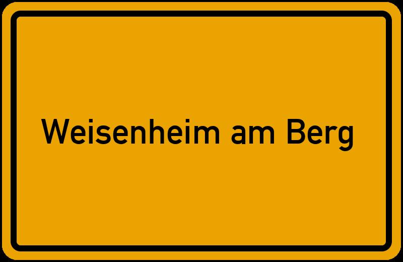 onlinestreet Branchenbuch für Weisenheim am Berg