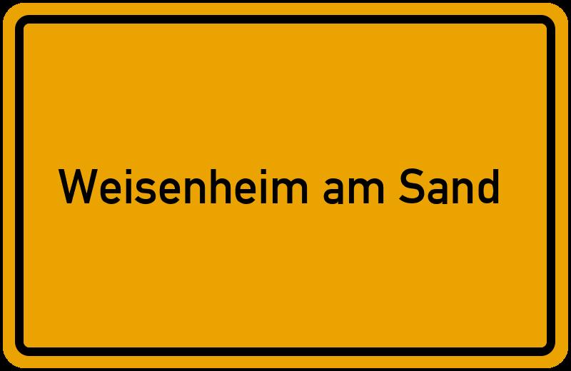 Ortsschild Weisenheim am Sand