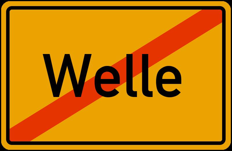 Ortsschild Welle