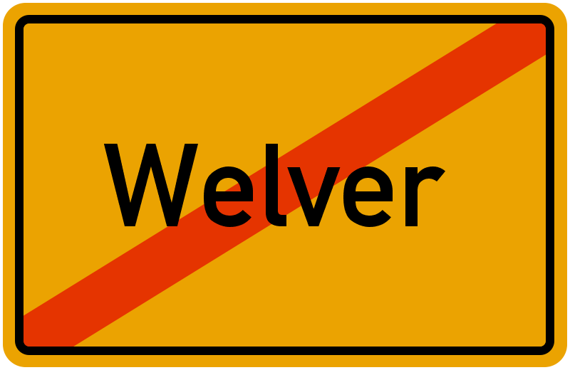 Ortsschild Welver