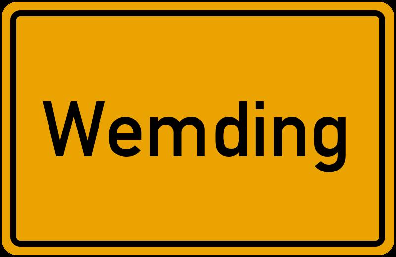 Ortsschild Wemding