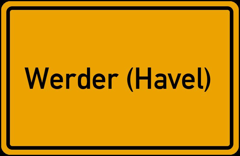 Ortsschild Werder (Havel)