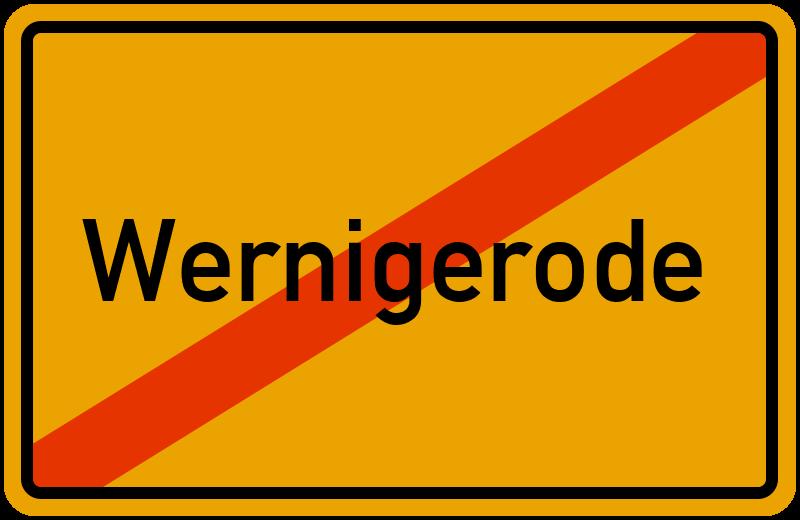 Ortsschild Wernigerode