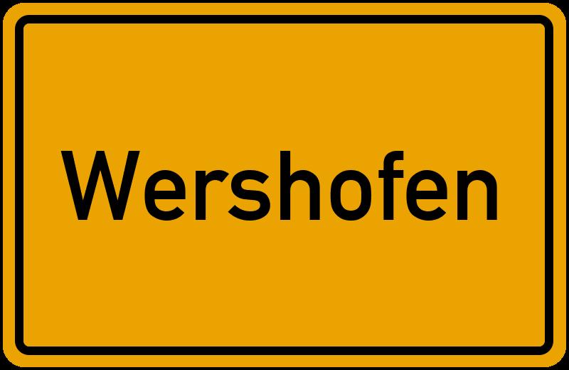 Ortsschild Wershofen