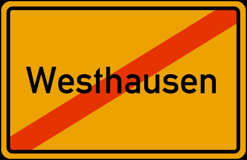 Ortsschild Westhausen