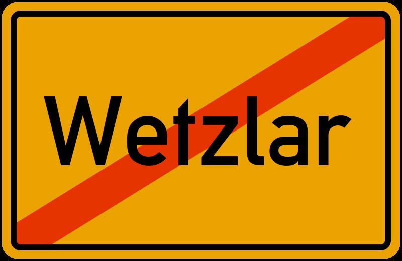 Ortsschild Wetzlar
