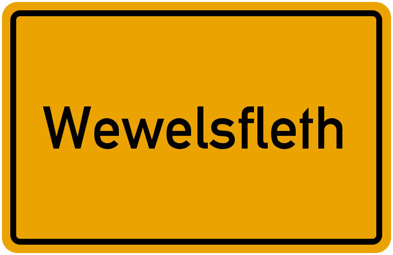 Ortsschild Wewelsfleth