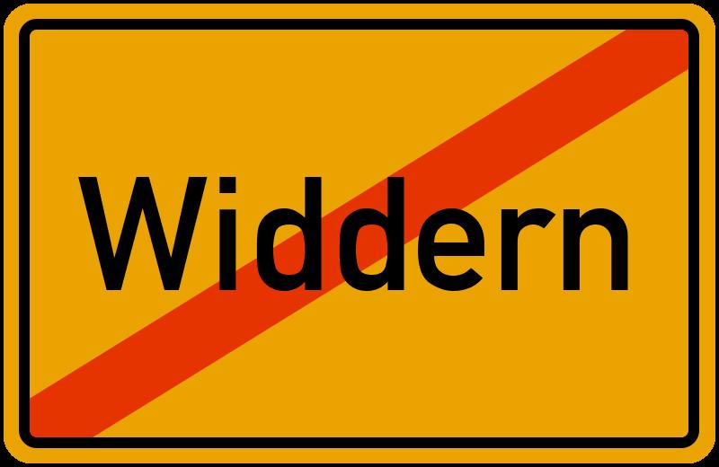 Ortsschild Widdern