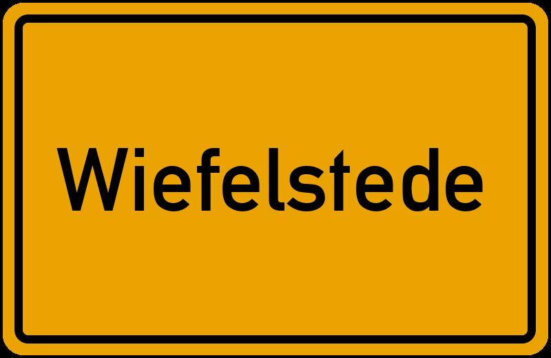 Ortsschild Wiefelstede