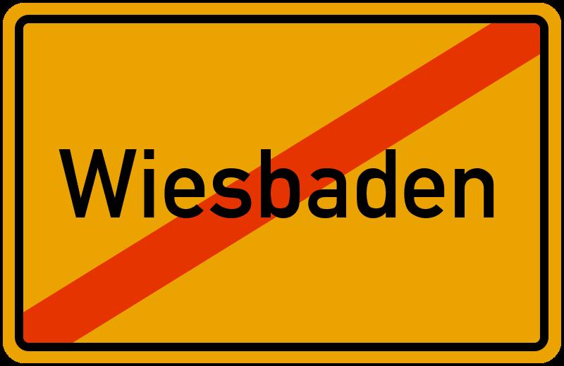 Ortsschild Wiesbaden
