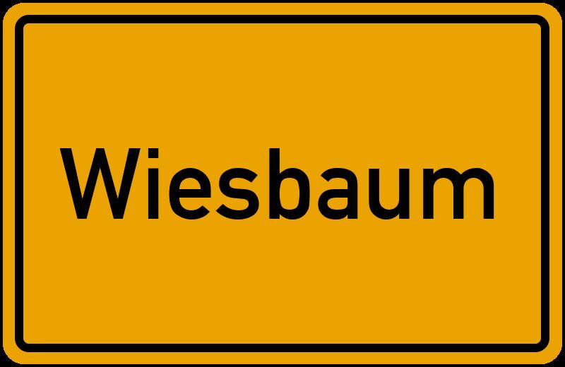 Ortsschild Wiesbaum