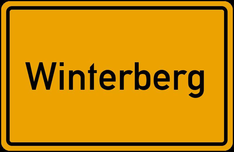 Ortsschild Winterberg