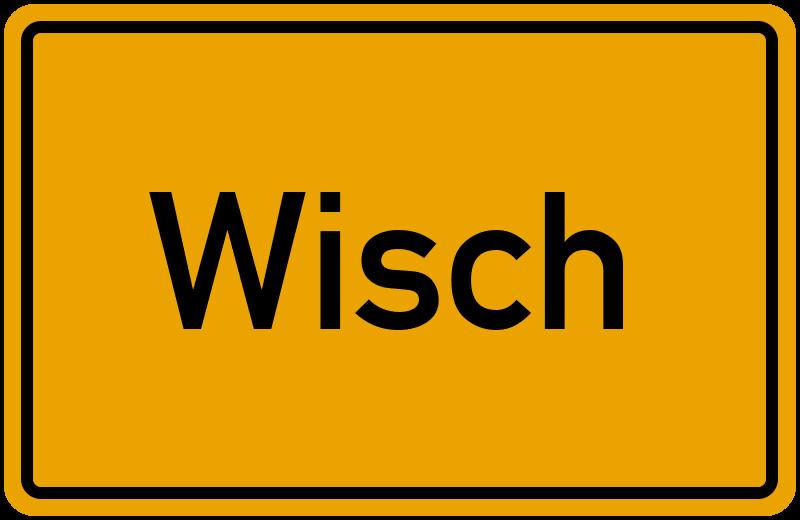 Ortsschild Wisch