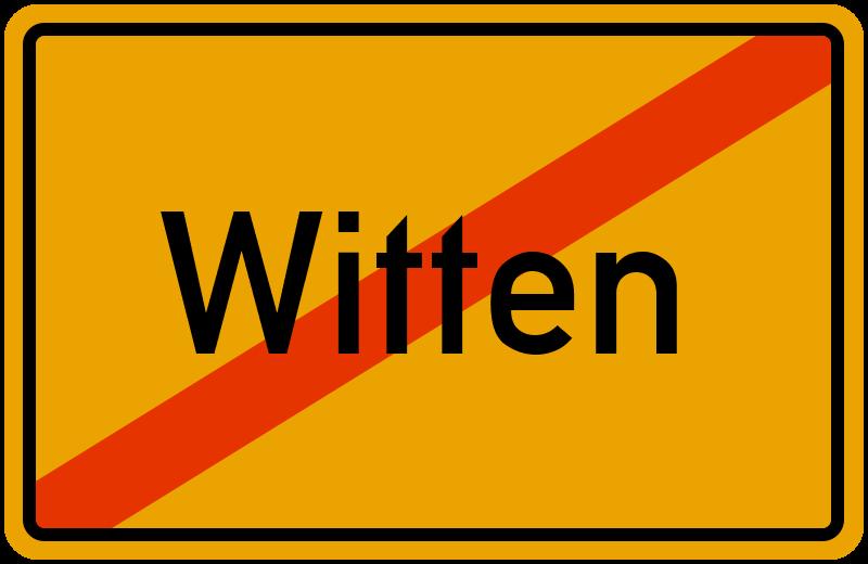 Ortsschild Witten