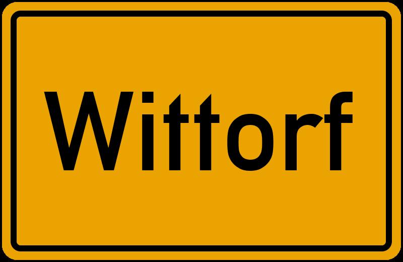 Ortsschild Wittorf