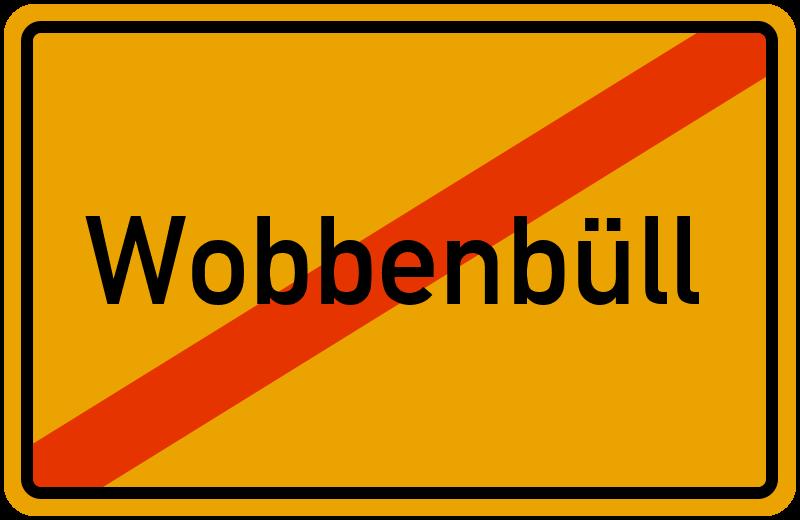 Ortsschild Wobbenbüll