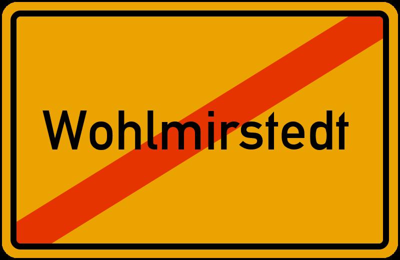 Ortsschild Wohlmirstedt