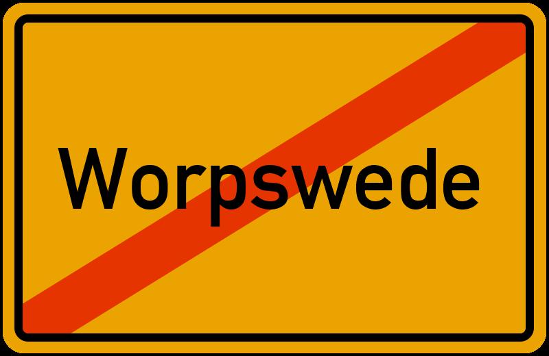 Ortsschild Worpswede