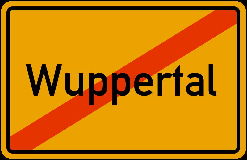 Ortsschild Wuppertal
