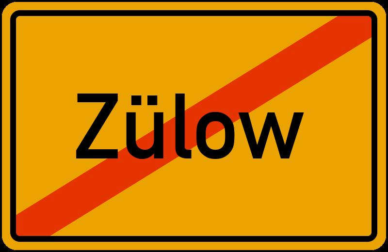 Ortsschild Zülow