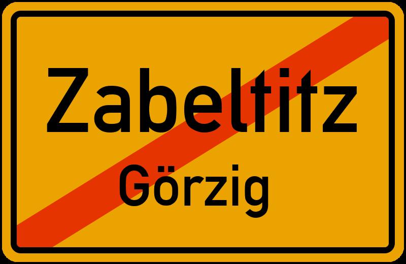 Ortsschild Zabeltitz-Görzig kostenlos: Download & Drucken